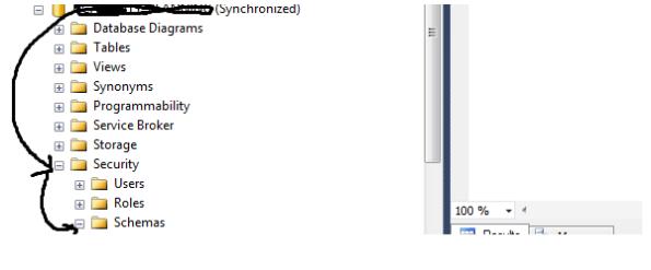 sql server 2008 - create schema